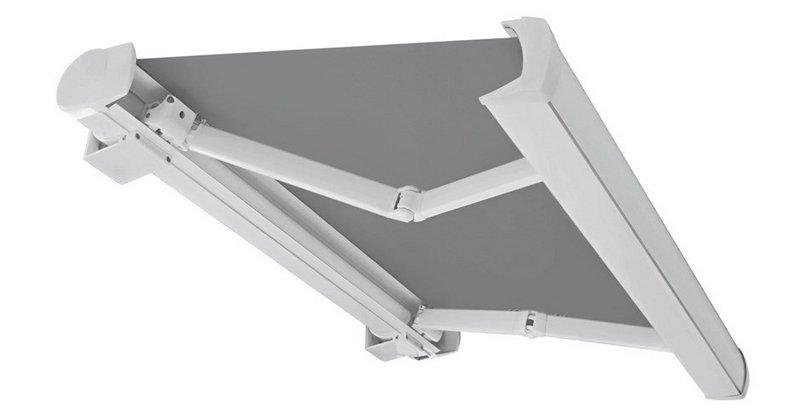 silueta de toldo con cofre color blaco tejido gris