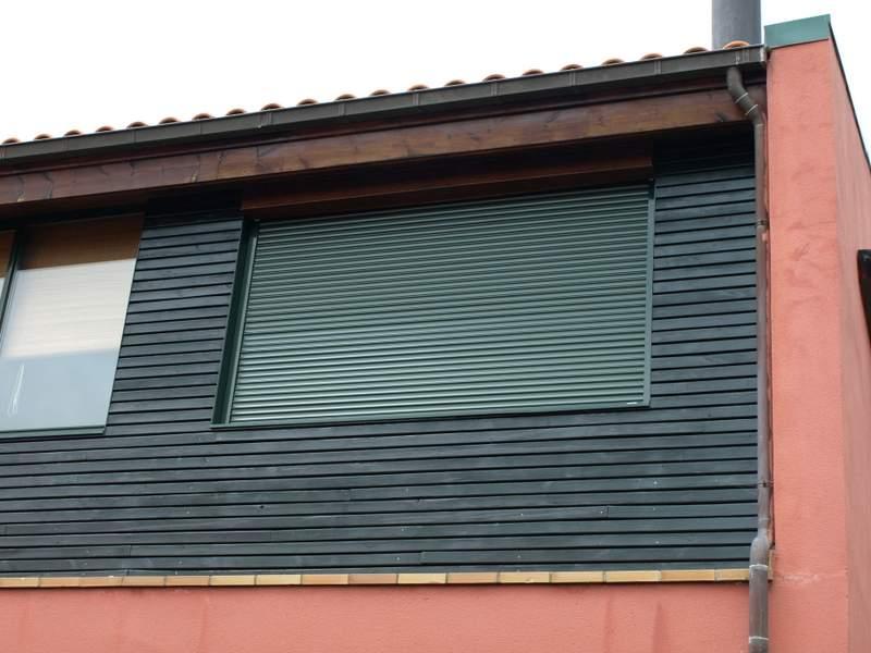 persiana cajon exterior verde