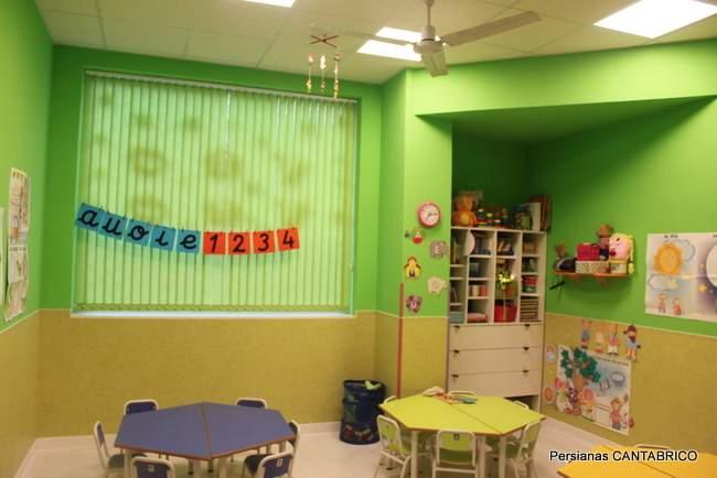 cortina vertical verde