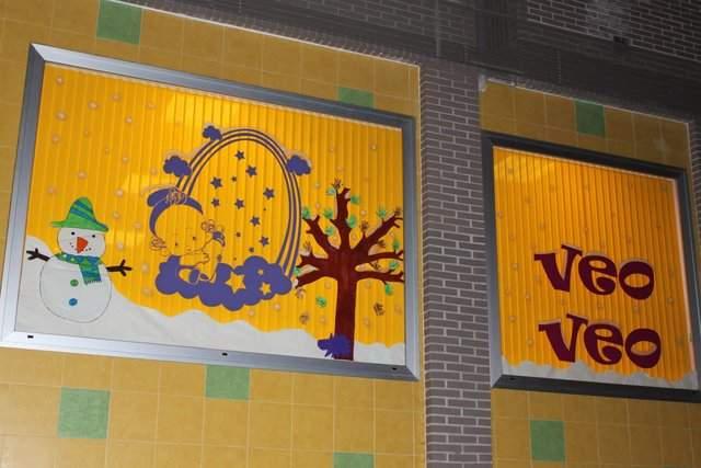 fachada de guarderia con cortinas verticales instaladas pot Persianas CANTABRICO