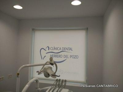 sala de clinica dental con estor bandalux