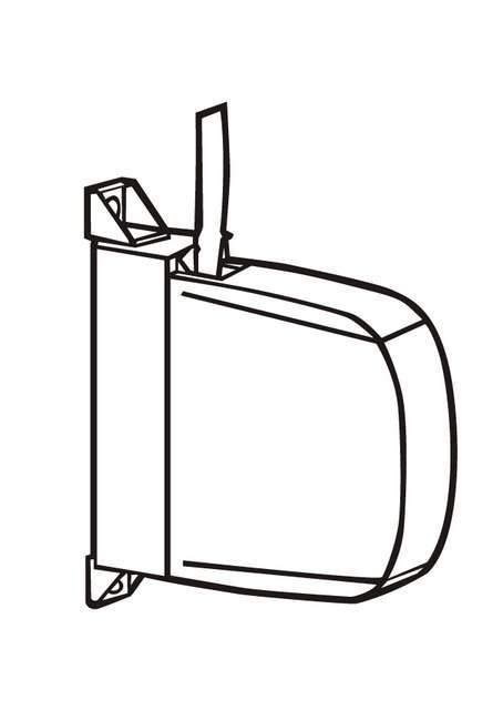 silueta de recogedor de aplacar de persiana