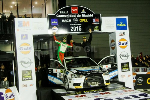 Podium Rallye de Madrid 2015