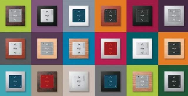 pulsadores de persiana en diferentes colores