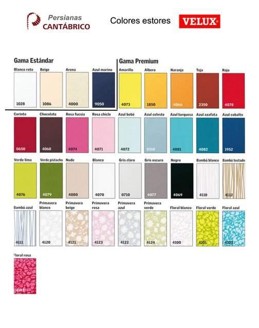 Colores Estores Velux