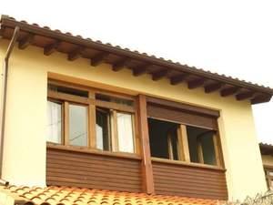 Persianas de cajon exterior color madera