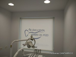 sala de clinica dental con estor bandalux