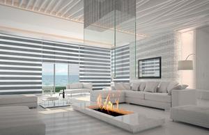 Salon con cortinas Neolux Bandalux